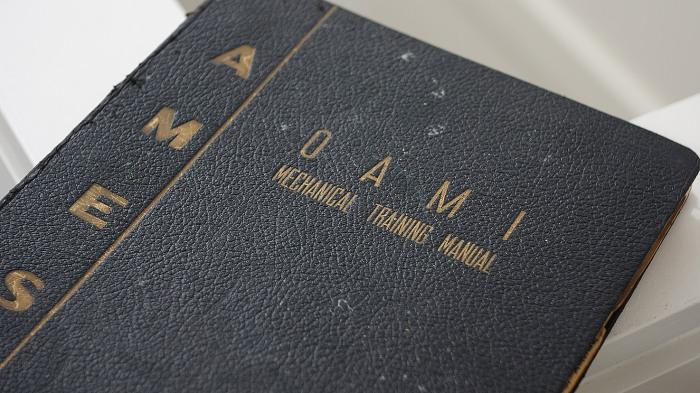 The 1948 Ames Typewriter repair manual.