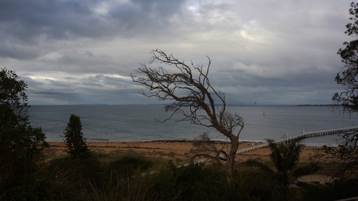 The weather turned quite dramatically - and sadly the beach didn't look quite as romantic.