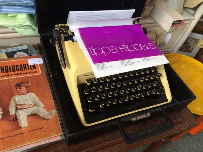 A lonely Remington, complete with manual for an Adler Tippa. $90