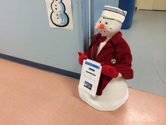 Nurse snow-man was here to inform.