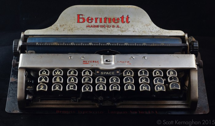 The Bennett Typewriter. Mean, unclean and... a little bit smelly, actually.