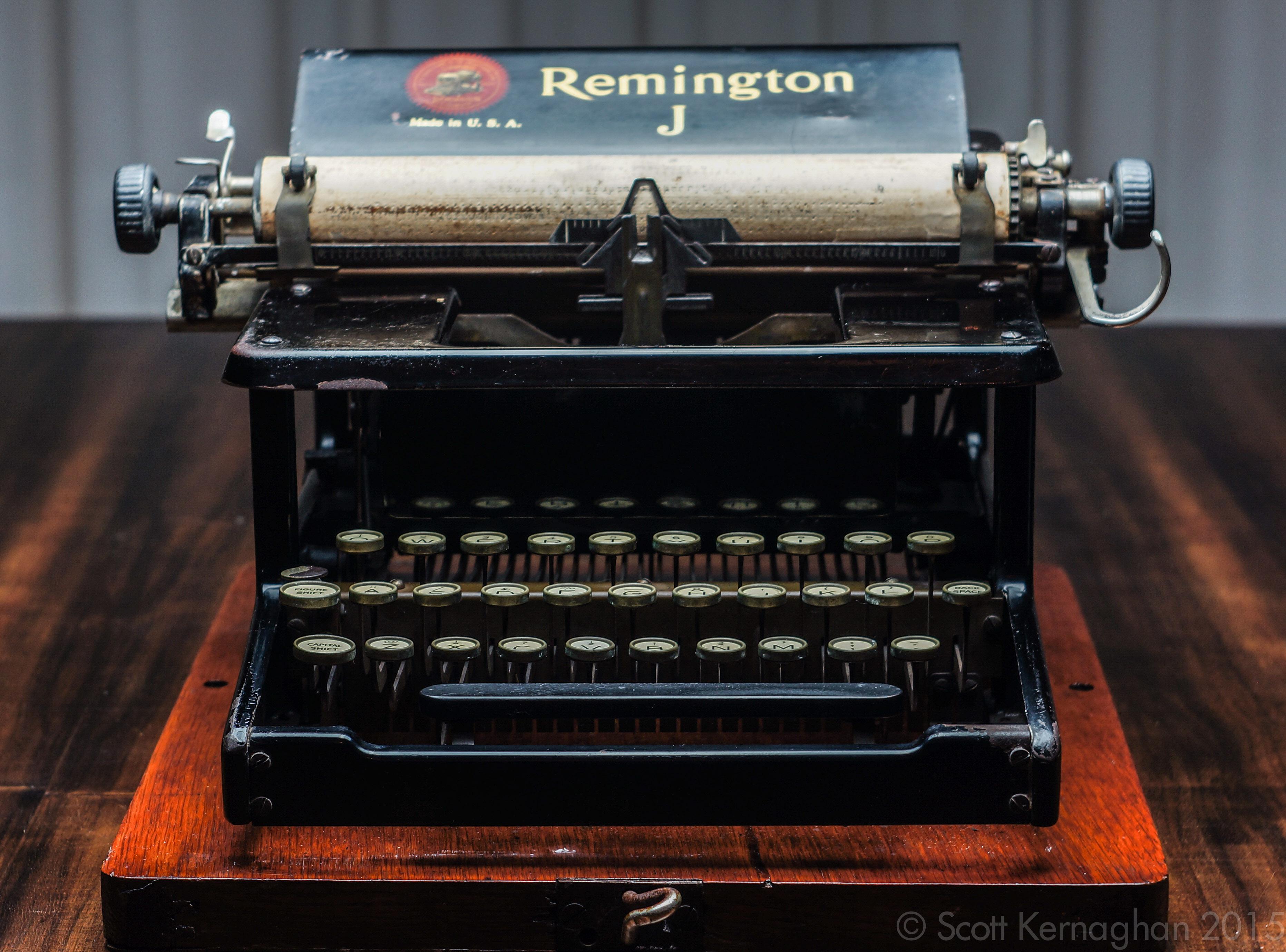 Dating remington typewriters