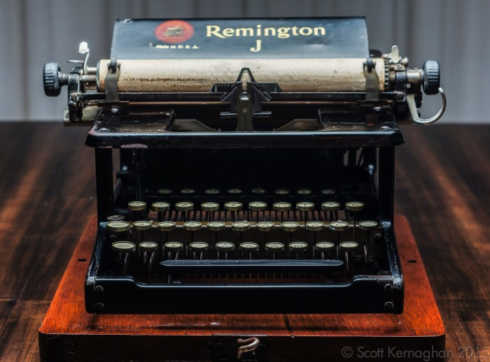 The Remington J typewriter.