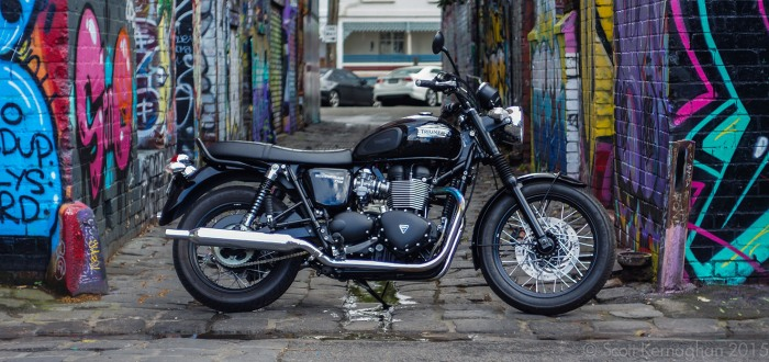 My Triumph Bonneville T100 'Black'.