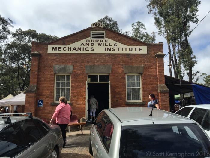 The Burke and Will's mechanical institute - the hub of the Fryerstown Antique fair.